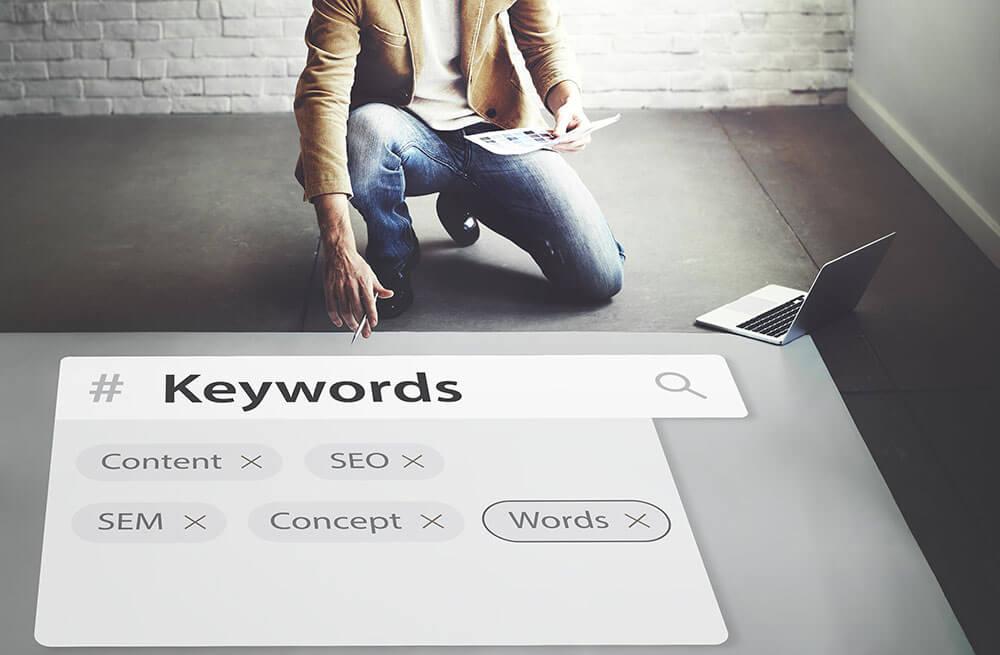 mot clé utilisateurs sur un moteur de recherche